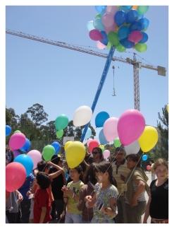 Lançamento de balões - Dia Mundial da Criança